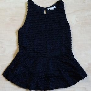 Derek Heart Sleeveless Black Top